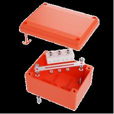 Коробка пластиковая FS с гладкими стенками и клеммниками, IP56,100х100х50мм, 4р, 450V,6A, 4мм.кв | FSB10404 | DKC