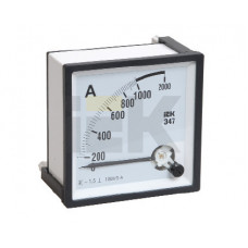 Амперметр Э47 200/5А кл. точн. 1,5 72х72мм | IPA10-6-0200-E | IEK