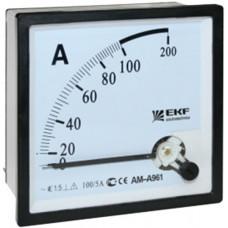 АмперметрAM-A961 аналоговый на панель 96х96 (квадратный вырез)50А прямое подключение EKF PROxima   am-a961-50   EKF