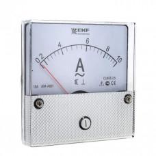 Амперметр AM-A801 аналоговый на панель 80х80 (круглый вырез) 10А прямое подключение EKF PROxima   am-a801-10   EKF