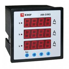 Амперметр AM-D963 цифровой на панель 96х96 трехфазный EKF PROxima   ad-963   EKF
