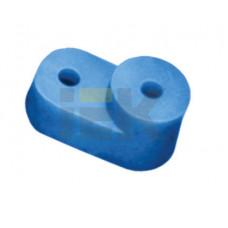 Угловой изолятор для О шины синий | YIS32 | IEK