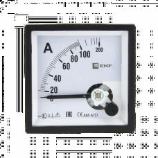 Амперметр AM-A721 аналоговый на панель 72х72 (квадратный вырез)200А трансформаторное подключение EKF PROxima   am-a721-200   EKF