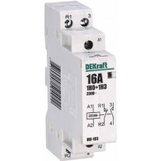 Модульный контактор 1НО+1НЗ 16А 230В МК-103 | 18051DEK | DEKraft