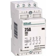 Модульный контактор 4НО 16А 230В МК-103 | 18053DEK | DEKraft