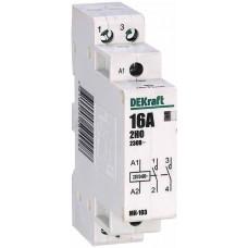 Модульный контактор 2НО 25А 230В МК-103 | 18064DEK | DEKraft