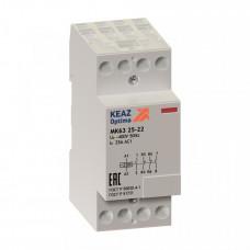 Контактор модульный OptiDin МК63-2522-24AC/DC | 236139 | КЭАЗ
