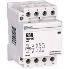 Модульный контактор 3НО+1НЗ 63А 230В МК-103 | 18089DEK | DEKraft