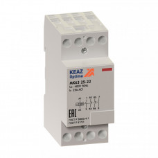 Контактор модульный OptiDin МК63-2531-24AC/DC | 150912 | КЭАЗ