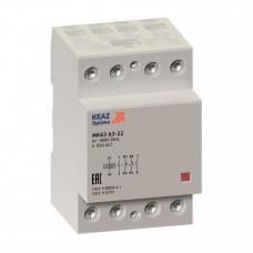 Контактор модульный OptiDin МК63-6304-230AC | 114139 | КЭАЗ