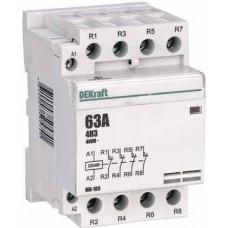 Модульный контактор 4НЗ 63А 230В МК-103 | 18091DEK | DEKraft