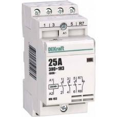 Модульный контактор 3НО+1НЗ 20А 230В МК-103 | 18061DEK | DEKraft