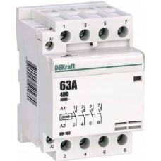 Модульный контактор 4НО 63А 230В МК-103 | 18088DEK | DEKraft