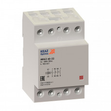 Контактор модульный OptiDin МК63-6340-24AC | 236782 | КЭАЗ
