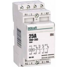 Модульный контактор 2НО+2НЗ 25А 230В МК-103 | 18069DEK | DEKraft