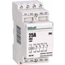 Модульный контактор 4НЗ 25А 230В МК-103 | 18070DEK | DEKraft