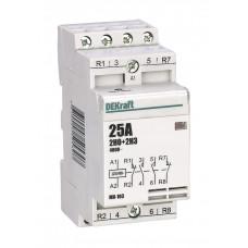 Модульный контактор 2НО+2НЗ 32А 230В МК-103 | 18076DEK | DEKraft