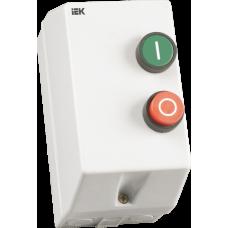 Контактор КМИ10960 9А в оболочке I уставки 0,16-0,25А Ue=220В/АС3 IP54 | KKM16-009-C016-220-00 | IEK