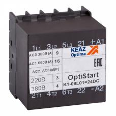 Контактор OptiStart K1-09L10=24DC | 117359 | КЭАЗ