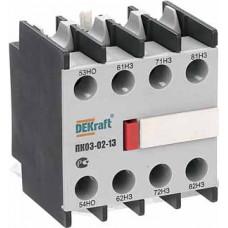 Приставка контактная доп.контакты 1НО+3НЗ ли | 24107DEK | DEKraft